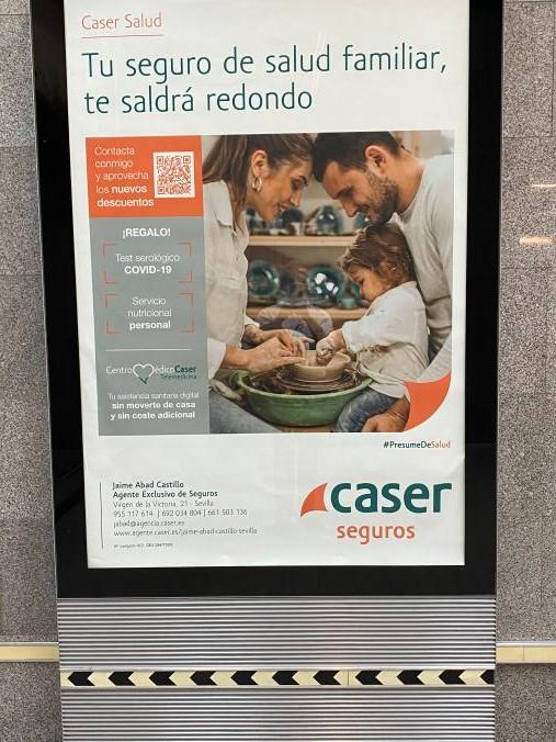 Campaña de Seguros de Salud. Estación de Metro de Plaza de Cuba